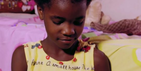 "Child featured in the video ""child like faith"""
